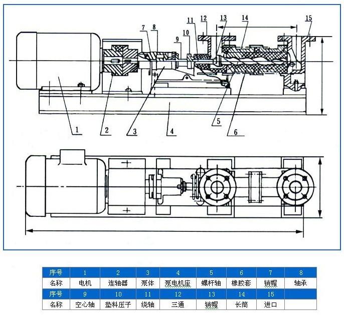 中国泵阀商务网 技术中心 产品手册 g型螺杆泵结构图  关键词